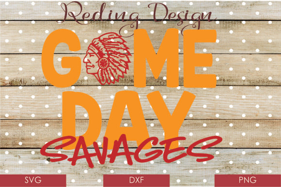 Game Day Savages Digital Cut File SVG PNG DXF
