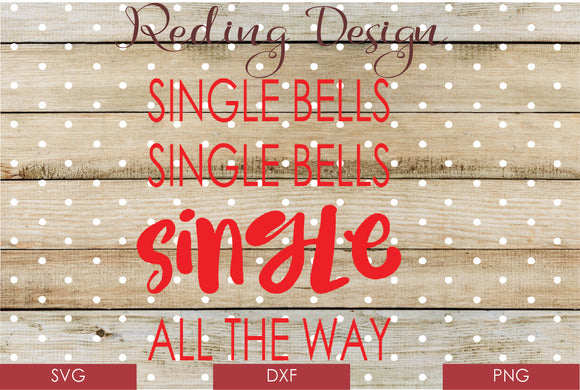 Single Bells Digital Cut Files SVG DXF PNG