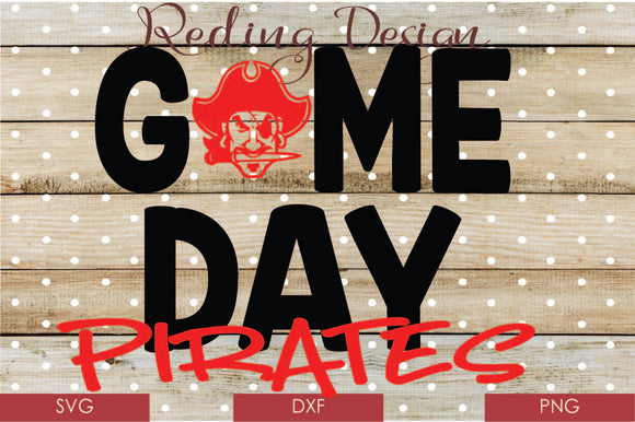 Game Day Pirates Digital Cut File SVG PNG DXF