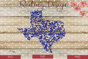 Texas Patterned SVG PNG DXF Digital Cut File