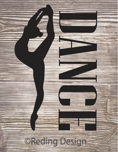 Dance Digital Cut File SVG PNG DXF