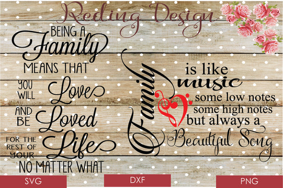 Family Bundle Digital Cut Files SVG PNG DXF
