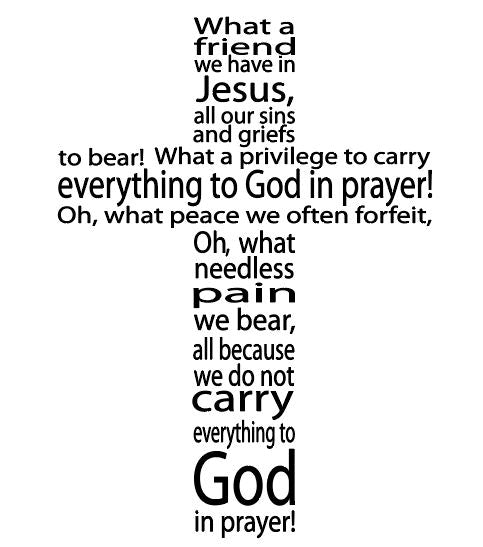 What a Friend In Jesus Cross Digital Cut Files SVG DXF PNG