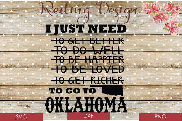 Go to Oklahoma Digital Cut Files SVG PNG DXF