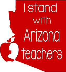 I Stand with Arizona Teachers SVG PNG DXF Digital Cut Files