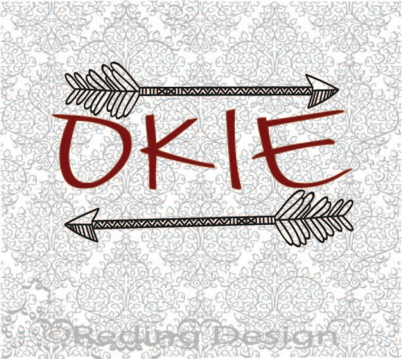 Okie Oklahoma SVG DXF PNG Digital Cut Files