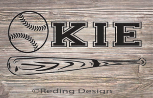 Okie Baseball Digital Cut Files SVG PNG DXF