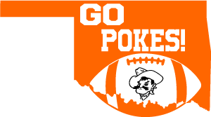 Oklahoma State Pistol Pete Football SVG DXF PNG Digital Cut Files