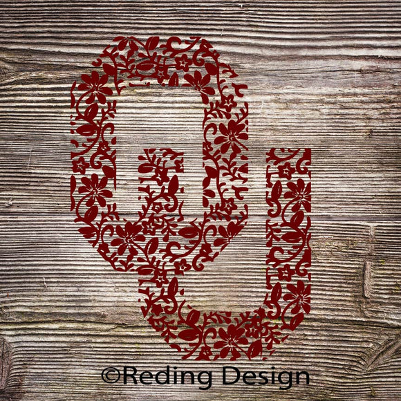 OU Patterned Oklahoma SVG DXF PNG Digital Cut Files