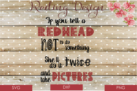 Redheads Do it Twice SVG PNG DXF Digital Cut File