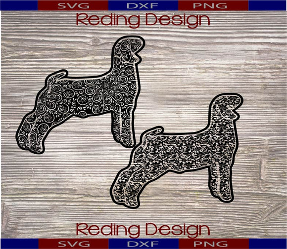 Show Lamb Patterned DXF PNG SVG Digital Cut Files