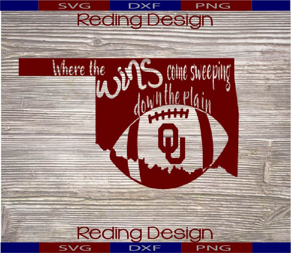 Wins Come Sweeping Down the Plains Digital Cut Files SVG PNG DXF
