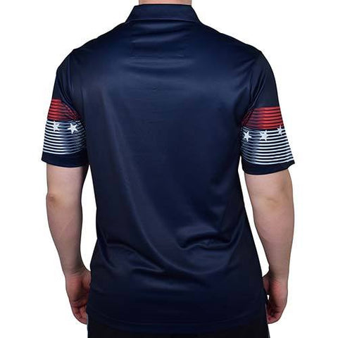 Mens American Classic Polo Shirt - Navy - 4th of july shirts
