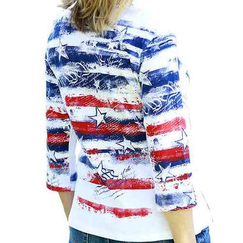 Womens Freedom Ring V-Neck Top - 4th of july shirts