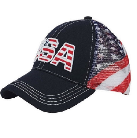 USA Cotton Twill Mesh Cap - 4th of july shirts