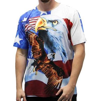 Mens Short Sleeve Sublimation T-Shirt Multi - 4th of july shirts
