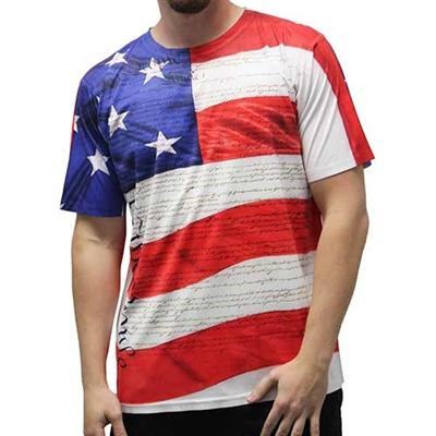Men's Short Sleeve Sublimation T-Shirt Multi - 4th of july shirts