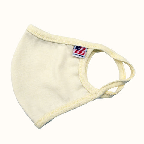 USA Flag Solid Face Mask Beige