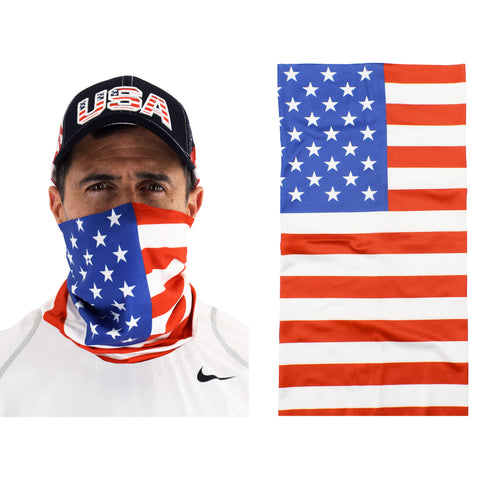 Cloth Gaiter Scarf with American Flag