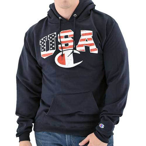 Champion USA Flag Hoodie - 4th of july shirts