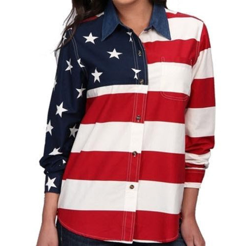 4th of July USA Flag Womens Shirt - 4th of july shirts