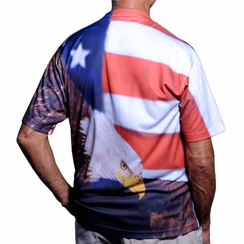 Eagle Flag Sublimated T-Shirt - 4th of july shirts
