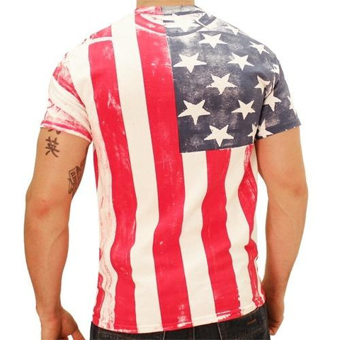 American Flag Mens T-Shirt - 4th of july shirts