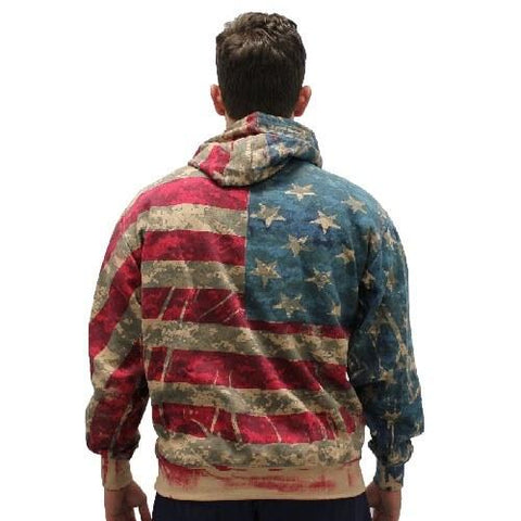 American Flag Digital Camo Sweatshirt - 4th of july shirts