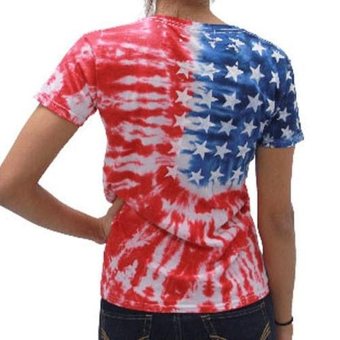 Ladies Flag T-Shirt - 4th of july shirts