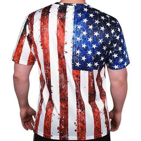 Mens Crewneck Sublimation print T-Shirt - 4th of july shirts
