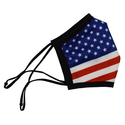Cloth Face Covering with American Flag - 4th of july shirts