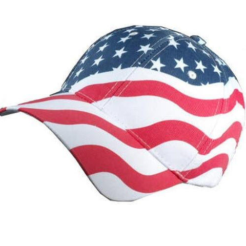 Angled American Flag Hat - 4th of july shirts