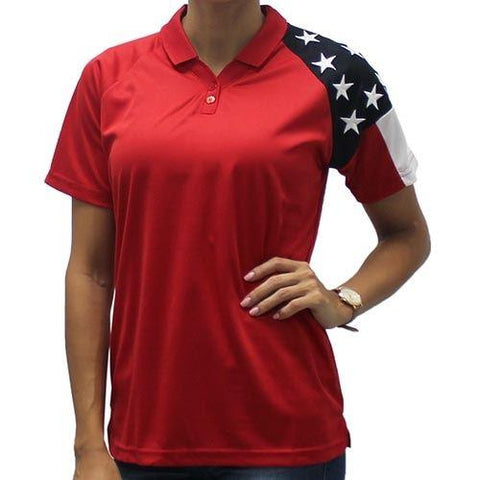 Ladies Patriotic Tech Shirt - 4th of july shirts