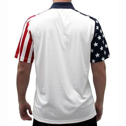 Mens Stars and Stripes Polo Shirt - 4th of july shirts