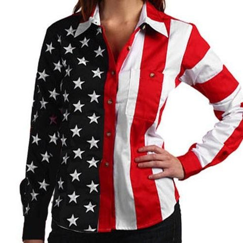 Fourth of July American Flag Womens Top - 4th of july shirts