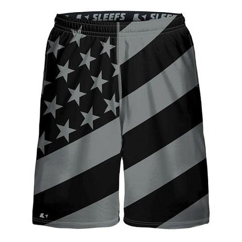 American Flag Shorts Black and White - 4th of july shirts