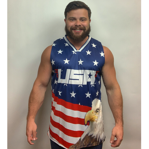 Eagle America #1 Basketball Jersey - 4th of july shirts