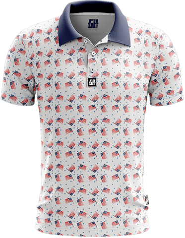 America Vintage Golf Polo - 4th of july shirts