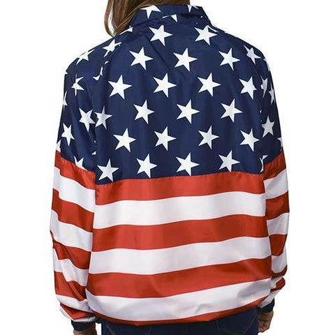 Womens American Flag Pullover - 4th of july shirts