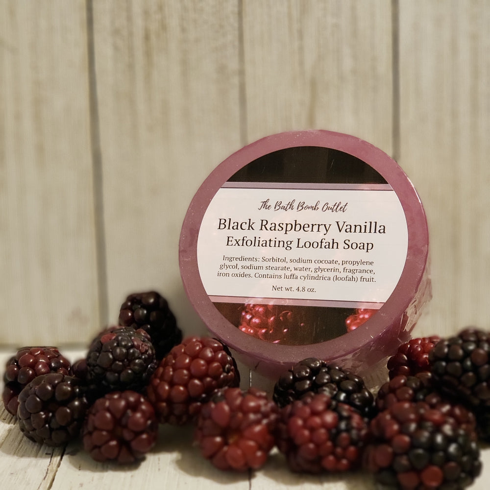 Black Raspberry Vanilla Loofah Soap