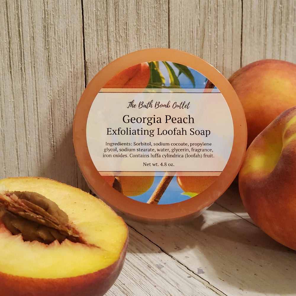 Georgia Peach Loofah Soap