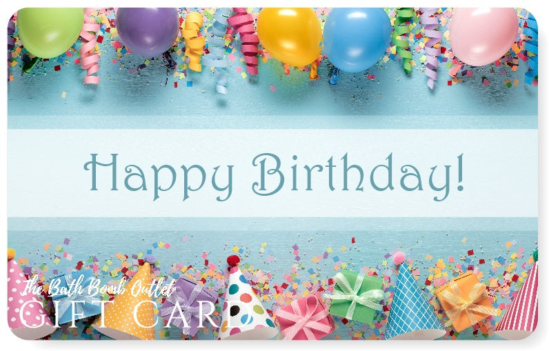 Birthday gift card design
