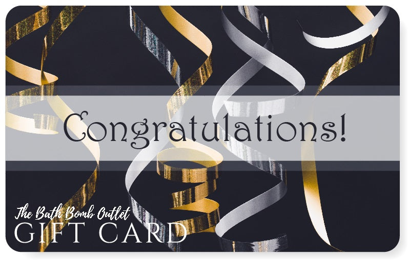 Congrats gift card design