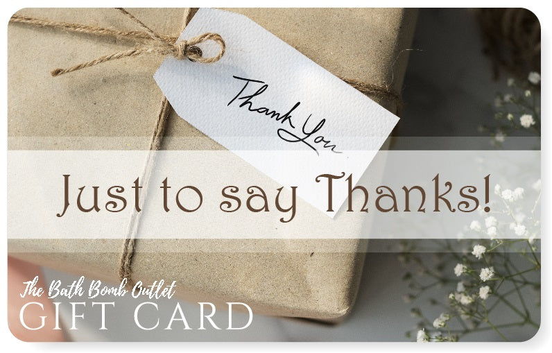 Thank You gift card design
