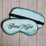 Good Night Eye Mask - Aqua