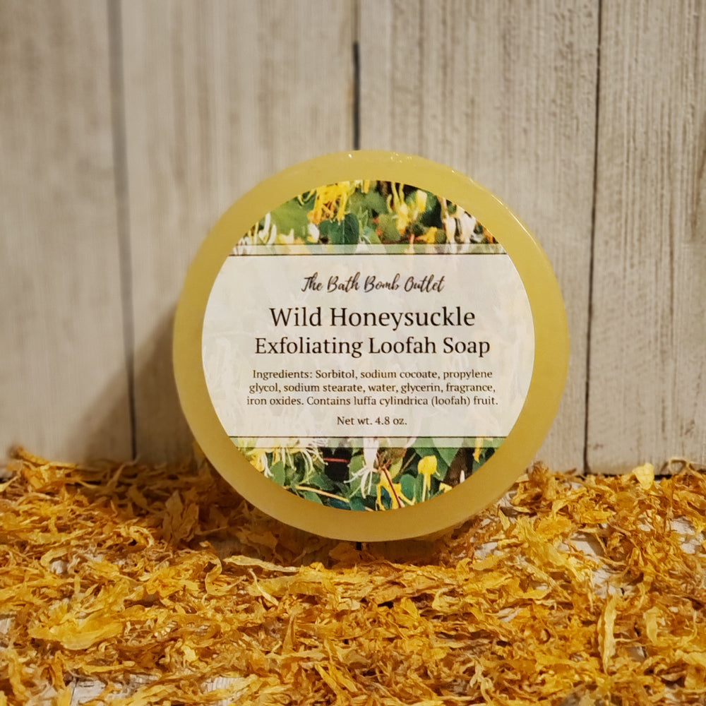Wild Honeysuckle Loofah Soap