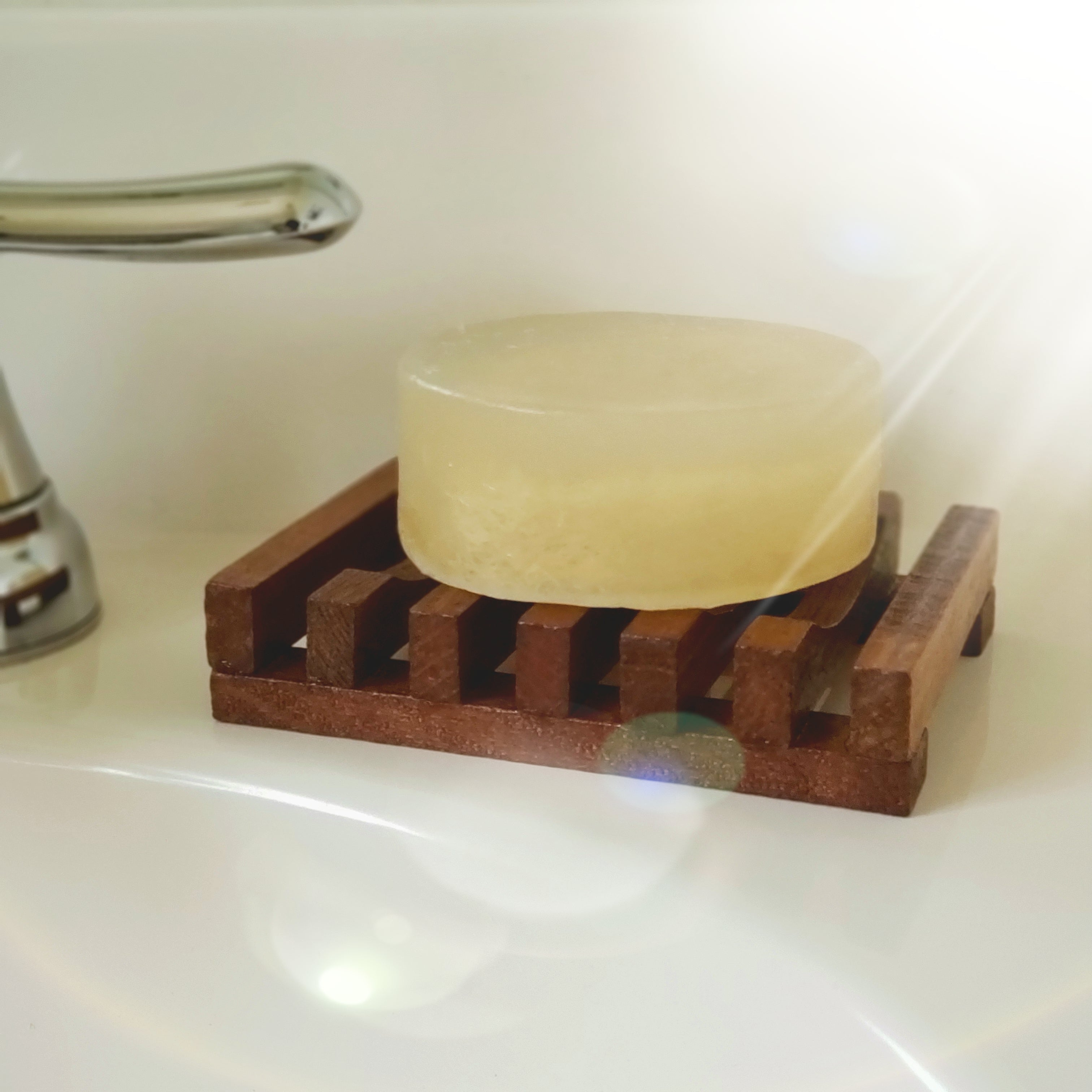 Wooden Soap Holder with soap