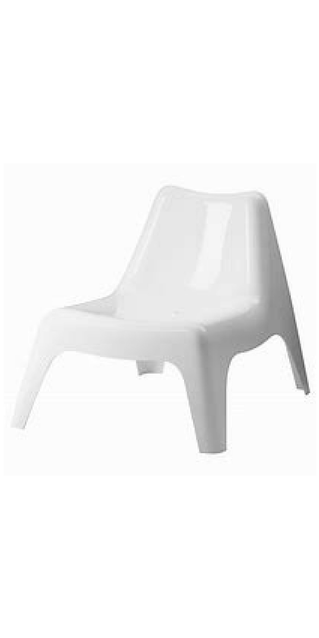 Outdoor Chair - White Resin