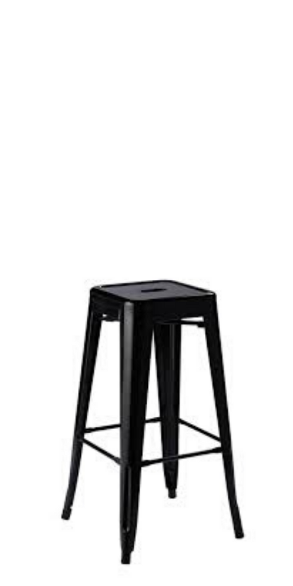 Ivy Tolix Black Stool