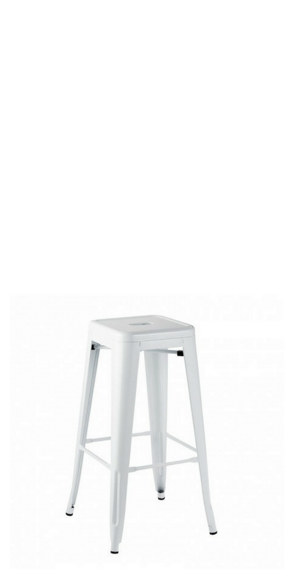 Ivy Tolix White Stool